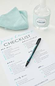 how to spring clean your house free printable spring cleaning checklist cleaning checklist
