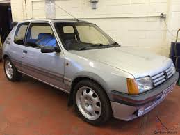 peugeot silver peugeot 205 gti 1900 1 9 silver 99 000 miles 3 owners dry stored