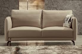 canapé 2 places beige canapé 2 places en cuir italien buffle romeo beige mobilier privé
