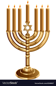 menorah 7 candles hanukkah candleholder with 7 candles candlestick vector image