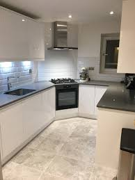 wickes high gloss white kitchen sofia range grey quartz counter