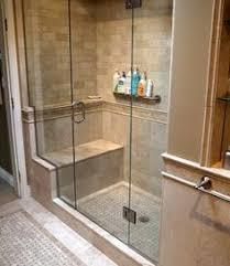 shower ideas for bathrooms large charcoal black pebble tile border shower accent https www