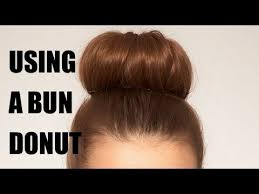 donut bun how to use a bun donut to create an updo