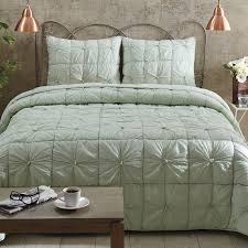 camille tufted quilt bedding set mint green