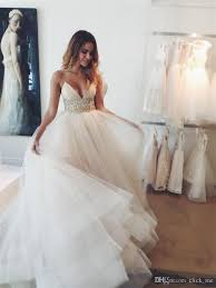 Wedding Dresses Near Me Beach Wedding Dresses 2016 Modest Spaghetti Strap Sash Beads
