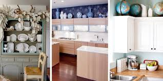 ideas for tops of kitchen cabinets innovative decorating ideas for above kitchen cabinets stunning
