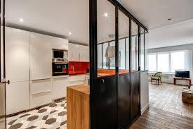 verriere interieur cuisine verrière intérieure autour d une cuisine contemporain cuisine