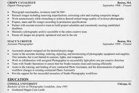 Photographer Resume Format Resume Professional Photography Reentrycorps