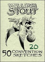 william stout 50 convention sketches 20 signed
