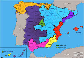 Spain Regions Map by Spain Divided In 7 Regions With The Same Population And A Half