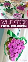 diy wine cork grape christmas ornaments cork christmas ornament