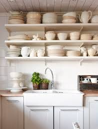 wonderful kitchen ideas corner floating open shelves for