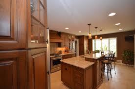 medium stained wood kitchen holmdel nj by design line kitchens