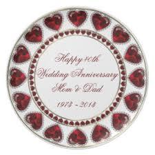 anniversary plates 40th anniversary plates zazzle