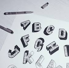 how to draw 3d letters a z step by step how to draw alphabet