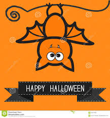 cute happy halloween pictures cute bat and black ribbon contour outline animal orange