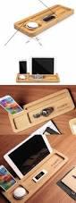 wooden stationery desk organizer phone ipad stand holder pen