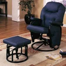 navy blue glider and ottoman recliner chairs and ottomans navy blue glider rocker 7298 co