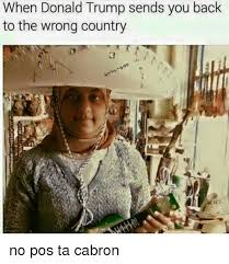 Pos Ta Cabron Meme - when donald trump sends you back to the wrong country no pos ta