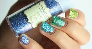 polish pals ombre loose glitter nails tutorial