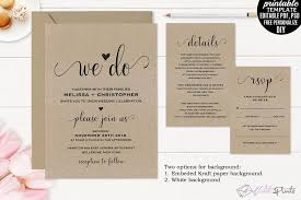 wedding invitation bundles kraft paper wedding invitation set temp design bundles
