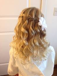 cute hairstyles for first communion 15 stunning waterfall braids pretty designs