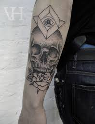 amazing skull tattoos skull rose and all seeing eye tattoo by valentin hirsch