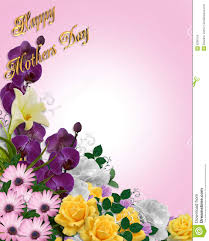 Mother S Day Flower Mothers Day Floral Border Card Stock Photography Image 8290152