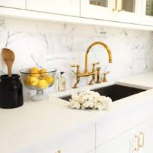 gold kitchen faucets delta gold trinsic kitchen faucet chic and functional in