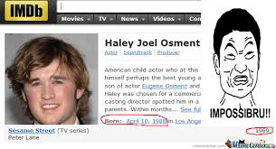 Haley Meme - haley joel osment impossibru by jarecec meme center