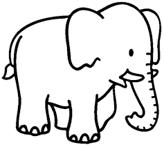 cartoon elephant coloring pages elephant line art google search