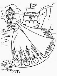 downloads frozen coloring pages elsa ice castle
