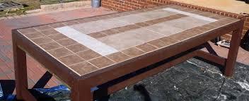 ceramic tile top patio table diy tile table top patio furniture tile designs