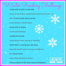 During Challenge Take The Winter Reading Challenge Reading Challenge Writing