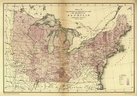 A Map Of The Us For Philandering Time Travelers A Map Of Syphilis During The