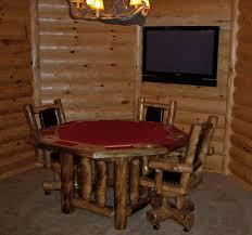 Log Cabin Dining Room Furniture Log Cabin Game Table Rustic Poker Table Lodge Furniture