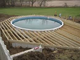 decor u0026 tips how to install above ground pool decks for outdoor