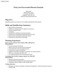 entry level accounting resume exles entry level accounting resume for accountant resumes exles