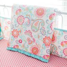 paisley crib bedding aqua baby bedding paisley baby bedding
