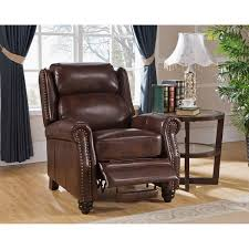 Leather Reclining Chairs Madison Brown Premium Top Grain Leather Recliner Chair Free