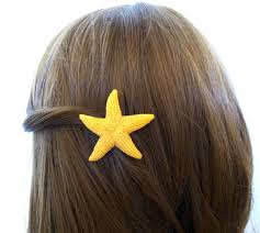 starfish hair clip faux starfish hair clip mermaid barrette artificial animal