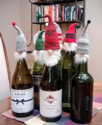 curly santa wine topper wine cork topper santa wine bottle cover