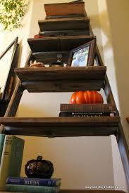 Brown Ladder Shelf Beyond The Picket Fence Ladder Shelf