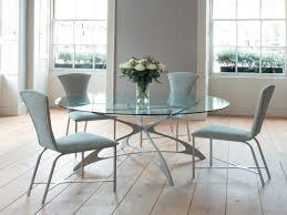 Glass Round Dining Table For 6 Chair Glass Dining Room Table Chairs S And Modern Leather Oval
