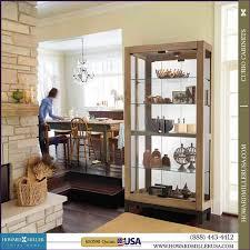 Pulaski Curio Cabinet Used Kitchen Room Fabulous Tall Corner Curio Cabinet Small Oak Curio
