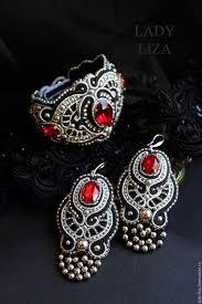 soutache earrings buy soutache earrings deco soutache bead earrings on