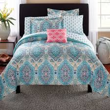 Black And White Paisley Comforter Mainstays Monique Paisley Bed In A Bag Comforter Set Walmart Com