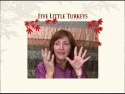 thanksgiving five turkeys a finger play