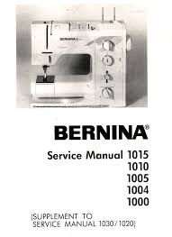 sewing machine service manuals