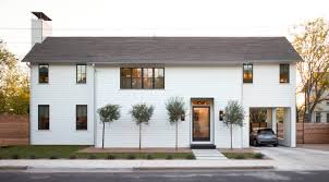 Farm House Designs by The Exterior Of This Two Story Home In East Austin Texas Was